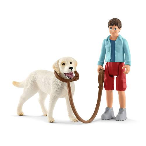 Schleich Farm Life 42478 Walking with Labrador Retriever