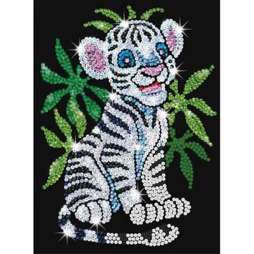 Sequin Art Ltd. Sequin Art Red Toby the White Tiger 0906