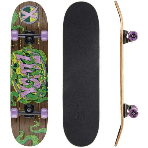 "Xootz Kids 31"" Double Kick End Skateboard - Tenticles"