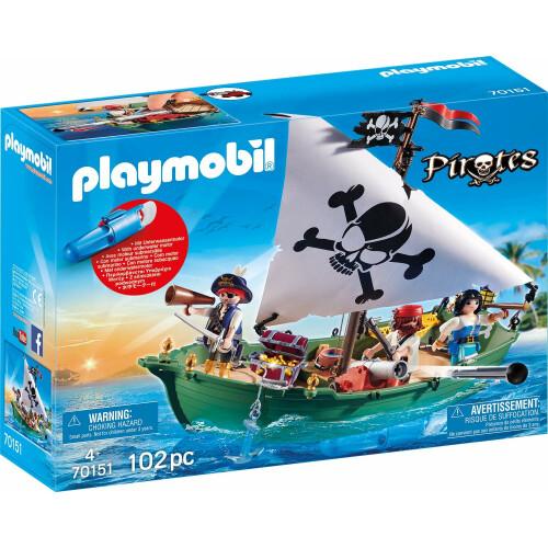 Playmobil 70151 Pirates Pirate Ship with Underwater Motor