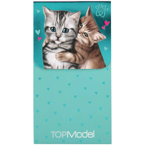 Depesche Top Model Notepad with Magnetic Clip, Cats