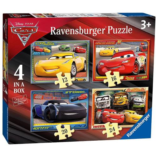 Ravensburger 4 Puzzles in a Box Cars 3