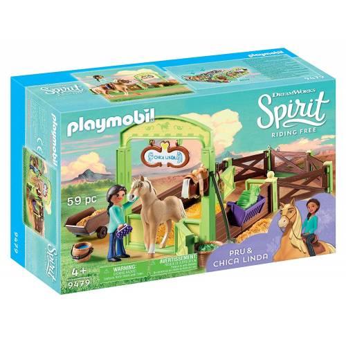 Playmobil Spirit 9479 Pru & Chica Linda Horse Stall