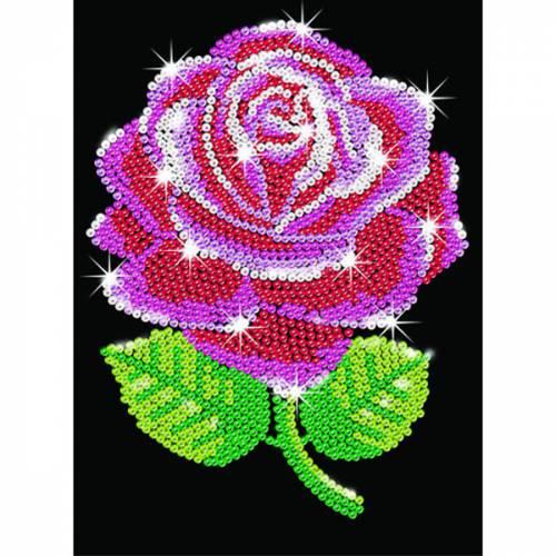 Sequin Art Ltd. Sequin Art Blue Red Rose 1001