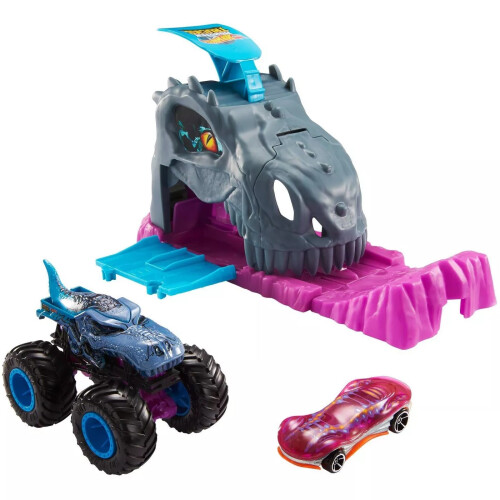 Hot Wheels Monster Trucks Pit and Launch Set Team Mega - Wrex