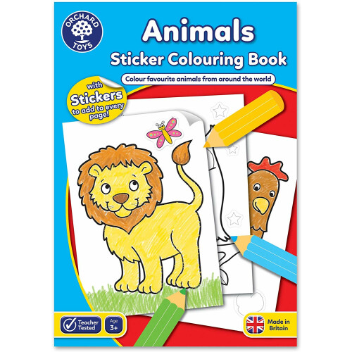 Orchard Animals Sticker Colouring Book