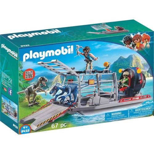 Playmobil 9433 Explorer Airboat with Raptors