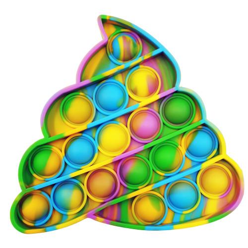 Push Pop Bubble Fidget Toy - Bright Poop