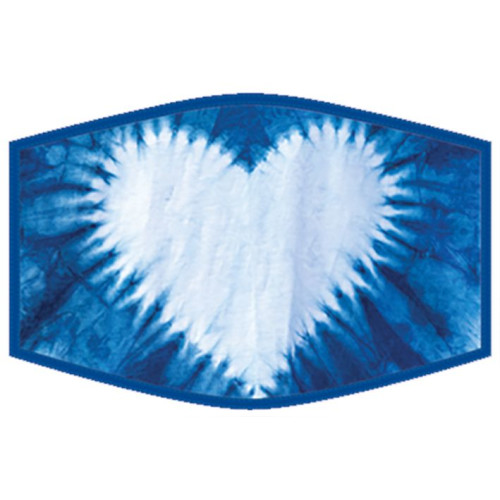 Washable Face Protector - Adult Size - Tie Dye Heart