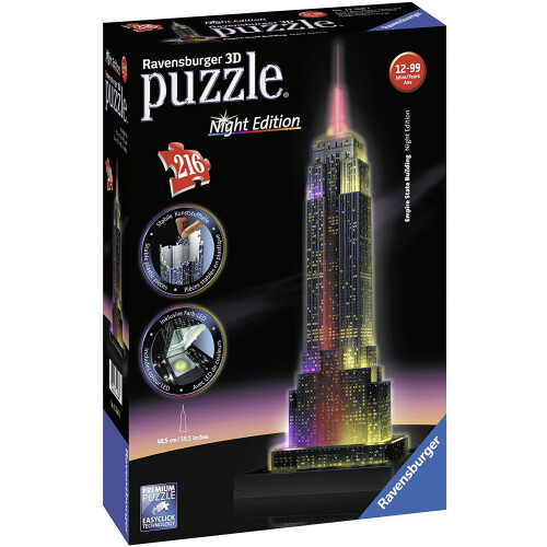 Ravensburger 216pc 3D Jigsaw Puzzle Empire State Building - Night Edition