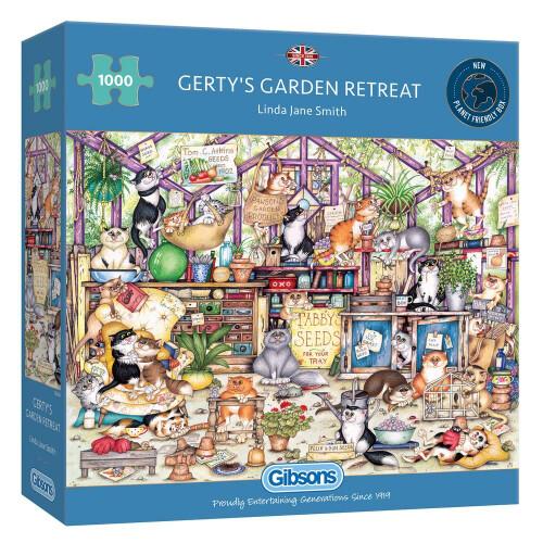Gibsons Gerty's Garden Retreat 1000 Piece Jigsaw Puzzle