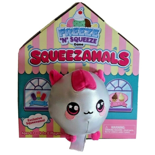 Squeezamals Freeze 'N' Squeeze Game - Silver Cat