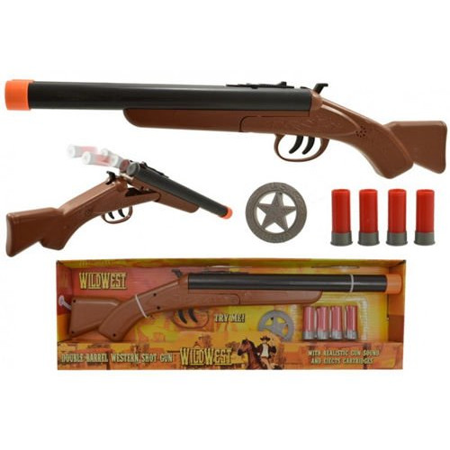 Wild West Double Barrel Western Shot Gun