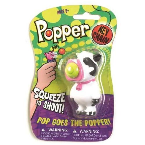 Popper Key Chain - Cow
