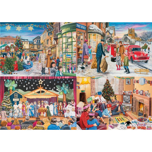 Gibsons  Magic of Christmas 4x 500pc Puzzles