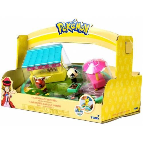 Pokemon Garden Adventures Playset with Eevee and Pancham