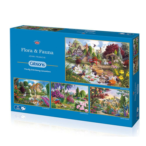 Gibsons Flora & Fauna 4x 500pc Puzzles