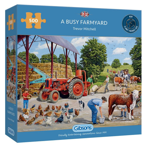 Gibsons A Busy Farmyard 500pc Puzzle