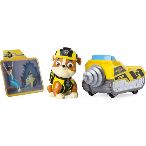 Paw Patrol Mission Paw Pup with Mini Vehicle - Rubble