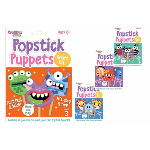 Kreative Kids - Popstick Puppets Craft Kit - Assorted
