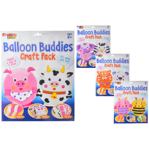 Kreative Kids - Balloon Buddies Craft Pack - Assorted