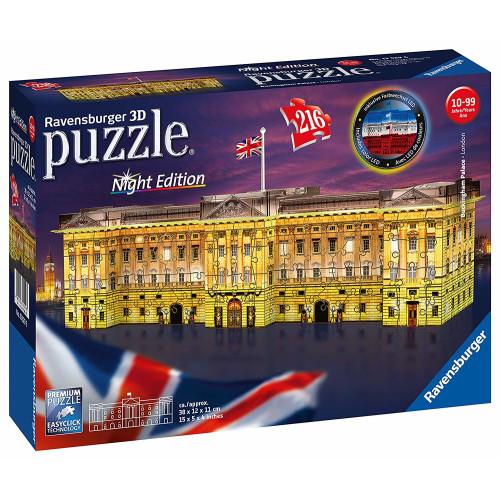 Ravensburger 216pc 3D Jigsaw Puzzle Buckingham Palace Night Edition