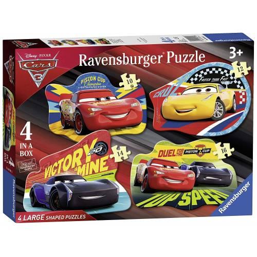 Ravensburger 4 Large Shaped Puzzles Cars 3
