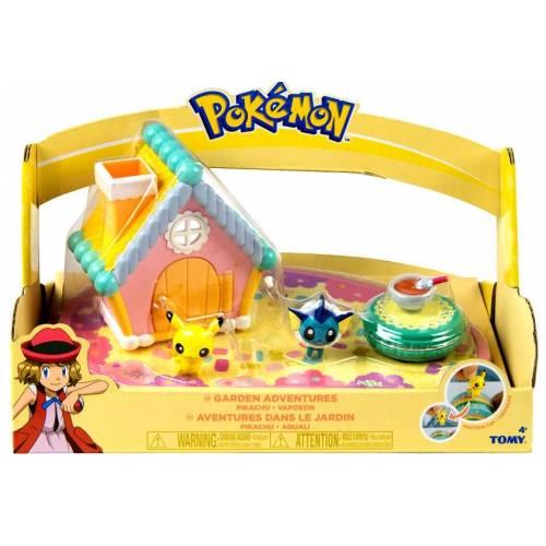 Pokemon Garden Adventures Playset with Pikachu and Vaporeon