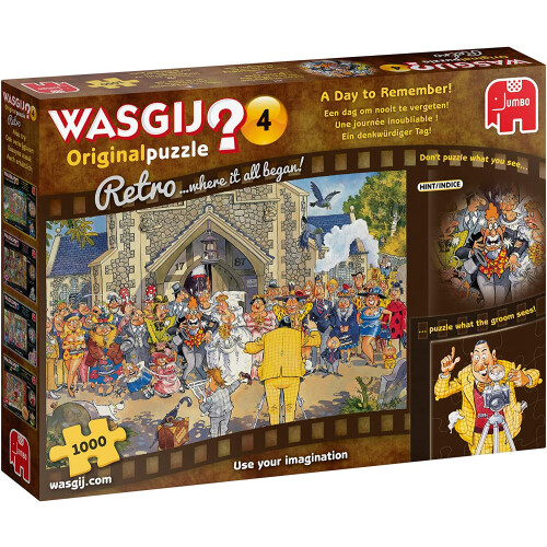 Wasgij? Original 4 Retro 1000pc Jigsaw Puzzle A Day to Remember!