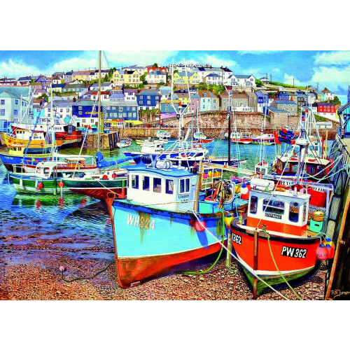 Gibsons Mevagissey Harbour 500pc XL