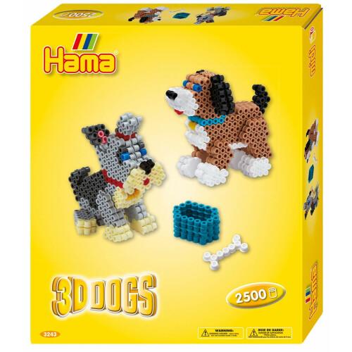 Hama Beads 3243 Gift Box 3D Dogs
