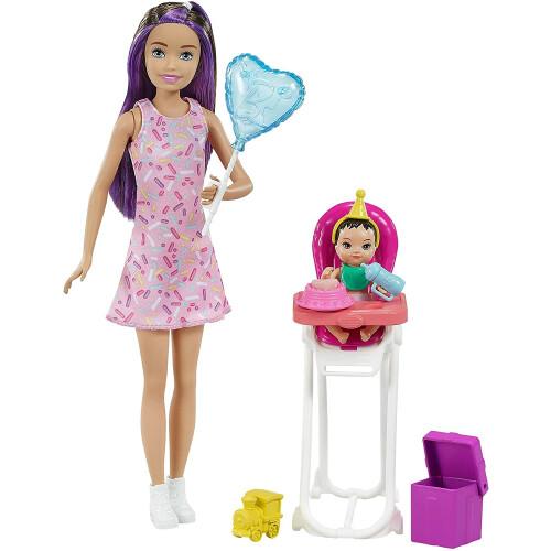 Barbie Skipper Babysitters INC Dolls And Playset - (Brown & Purple Hair)
