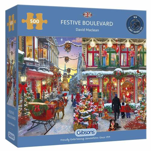 Gibsons 500 Piece Puzzle - Festive Boulevard