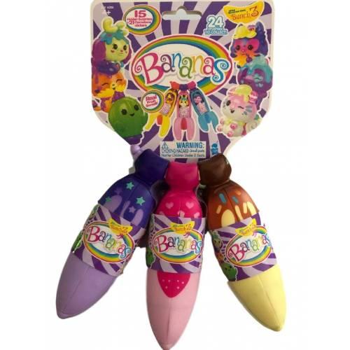 Bananas 3-Pack Bunch 3 - Purple, Pink, Yellow