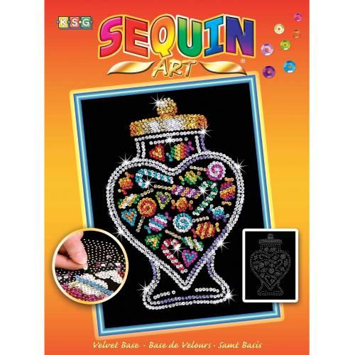 Sequin Art Ltd. Sequin Art Orange Candy Jar 1505