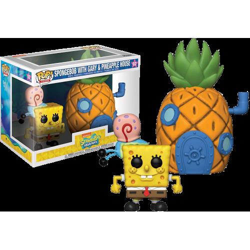 Funko Pop Vinyl Spongebob with Gary & Pineapple House 02