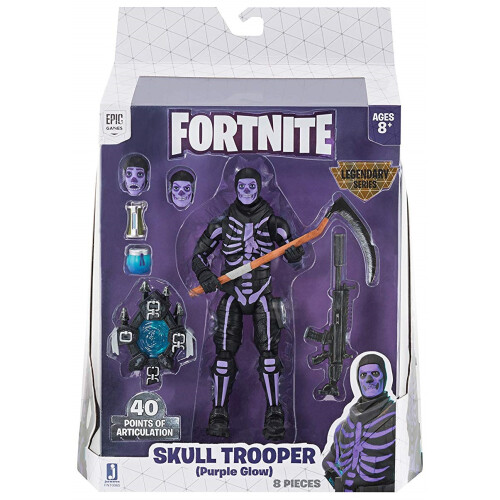 Fortnite Legendary Series 6 inch Figures - Skull Trooper (Purple Glow)