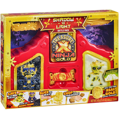 Treasure X Ninja Gold Shadow vs Light Battle Pack