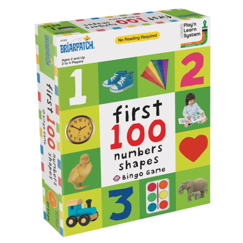 First 100 Numbers and Shapes Bingo Game