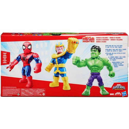 Marvel Super Hero Adventures Heroes & Villains - Hulk, Spider-man, Thanos