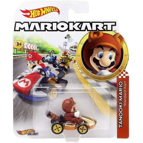 Hot Wheels Mario Kart - Tanooki Mario (Standard Kart)