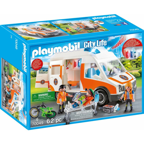 Playmobil 70049 City Life Ambulance with Flashing Lights