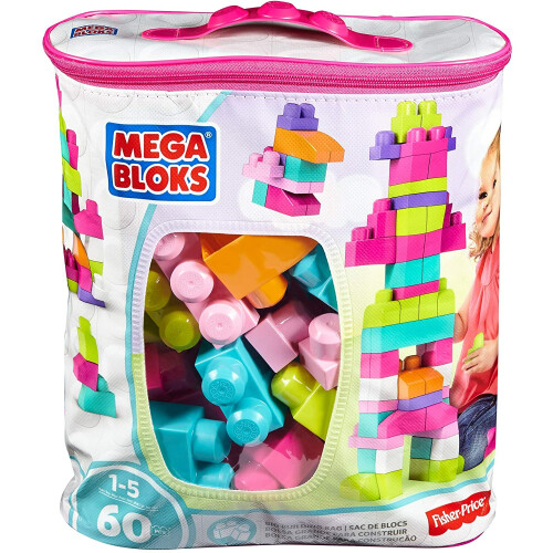Mega Bloks Big Building Bag - Pink