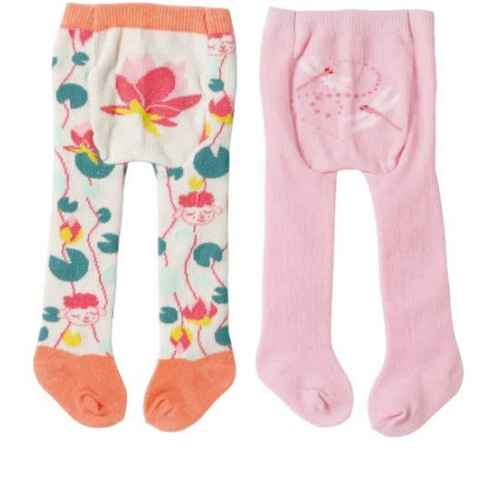 Baby Annabell Tights -  Dragonfly & Lily pad