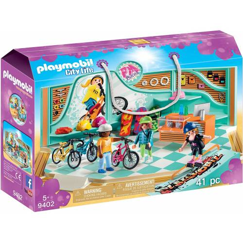 Playmobil 9402 City Life Bike & Skate Shop