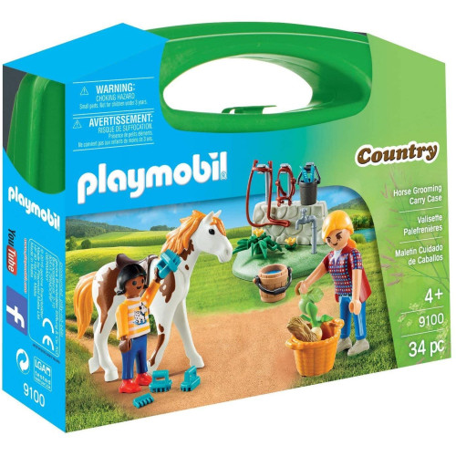 Playmobil 9100 Country Horse Grooming Carry Case