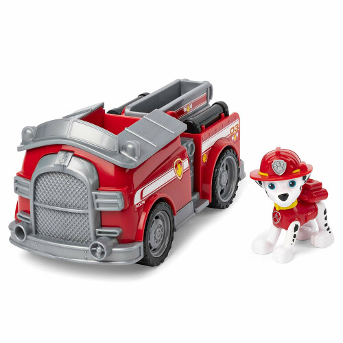 Paw Patrol Basic Vehicle with Pup - Marshall Fire Engine