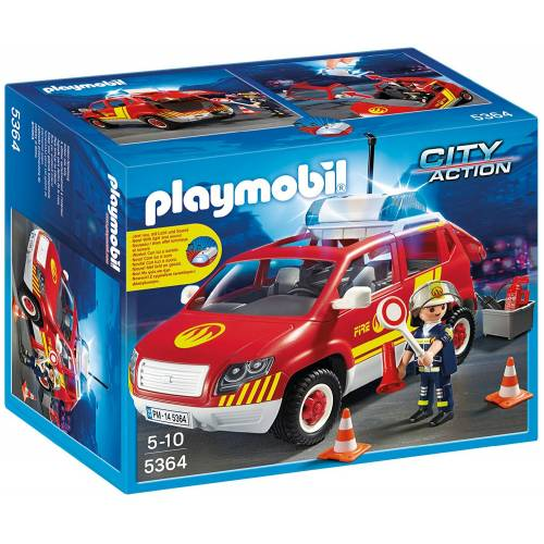 Playmobil City Action 5364 Fire Brigade Chief's Car with Lights and Sound