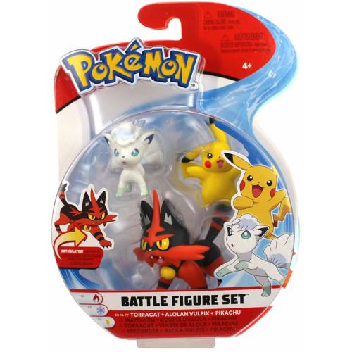 Pokemon Battle Feature Figure - Torracat Alolan Vulpix Pikachu