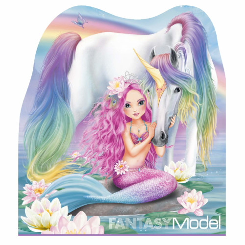 Depesche Fantasy Model Notepad - Rainbow Unicorn
